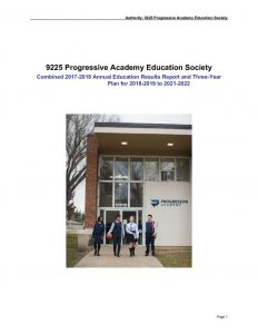 thumbnail of Progressive Academy Combined 3 Year Education Plan and 2017-18 Results Report